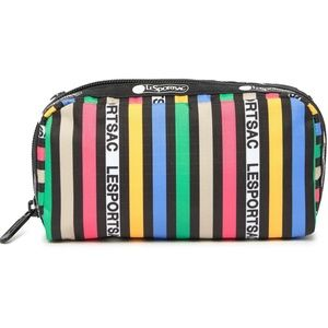 LESPORTSAC Striped Small Top Zip Cosmetic Case